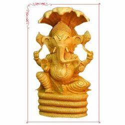Wooden Ganpati Statue