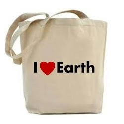 I Love Earth Canvas Bags