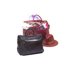 Black and Maroon Designer Travel Bag