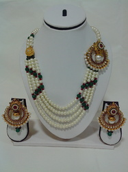 Exclusive Pearl Set with Side Pendant