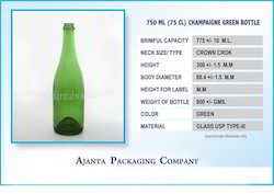 Champagne Green Bottle