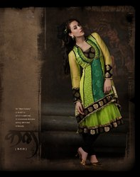 Green Readymade Suit Collection Wear