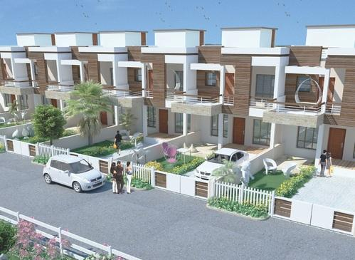 Row house elevation designs india images for Row house plans india