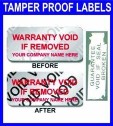Tamper Proof Labels