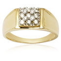 18k Gold Ring With Diamonds Stylish Mens Diamond Ring