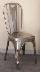 Chair In Nickel Finish
