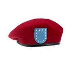 wool military beret cap