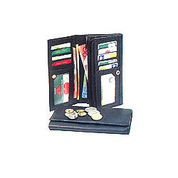 Tri Fold Ladies Leather Wallet