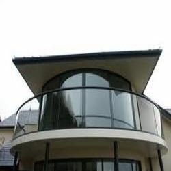 Curved Bent Glass Balcony