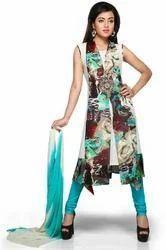 Designer Kurti with Dupatta Party wear Long Dress for Ladies