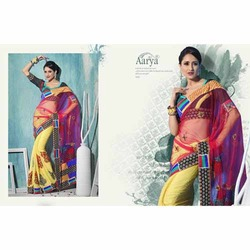 Embroidery Party Wear Sarees