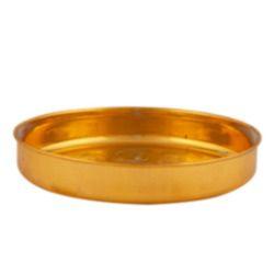 gold ashtamangala plate
