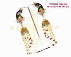 Fashionable Victorian Peacock Jhumka