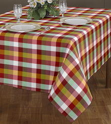 Square Checked Print Table Cloth