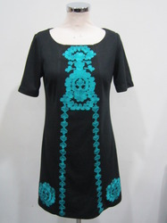 Black Embroidered Dresses