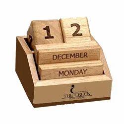 Wooden Cube Calendar