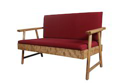 Two Seat Sofa Unit Round Bamboo