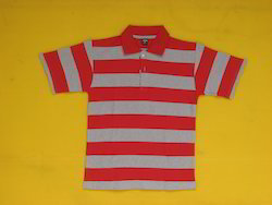 Mens Striped Collar T Shirt