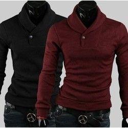 Men Slim Sweater