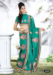 jacquard printed silk saree