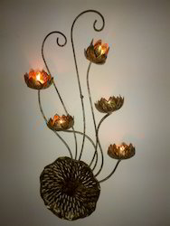 5 Flower T Light Wall Hanging ( WA SM - 75 )