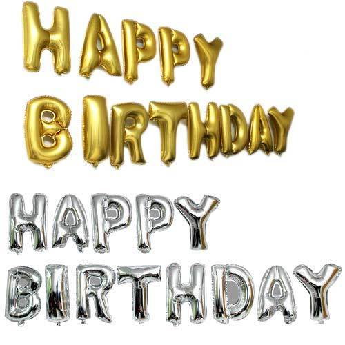 Happy Birthday Party Foil Balloons