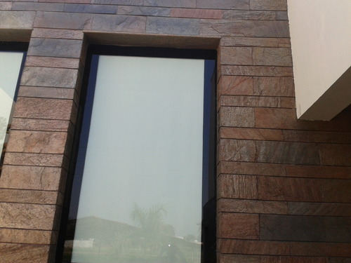 Exporter of front elevation stone tiles from choice stone for Exterior wall tiles design india