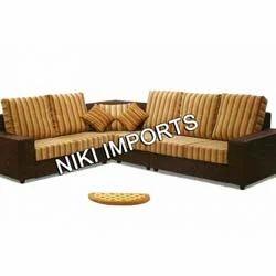 Box Corner Sofa Set - Rexine