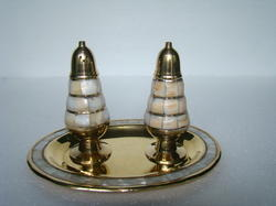 Brass MOP Salt & Pepper Shaker