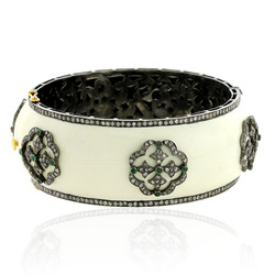 Diamond Pave Enamel Bangle
