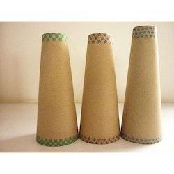 brown paper cones