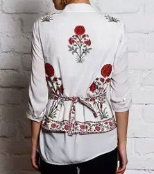 Hand Block Print Ladies Jacket