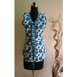Sleeveless Designer Tie Top