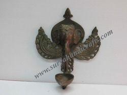 brass elephant oil lamp
