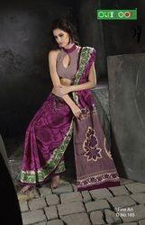 printed cotton saree fine art
