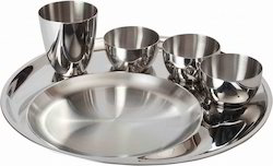 thali-set-1-plate-3-small-bowls-and-1-glass-