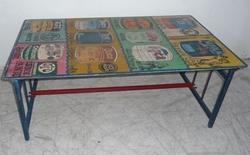Iron Hand Painted CoffeeTable