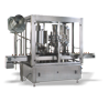 Automatic Rotary Bottle Filling and Cap Sealing Line with Piston Filler
