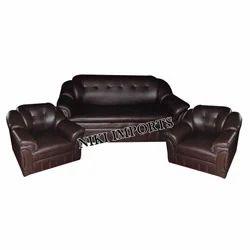 PU High Back Sofa Set - Rexine