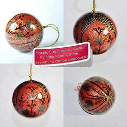 Window Pattern Decoration Bauble - Paper Mache Hanging Ball