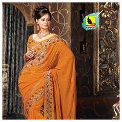 Orange Party Sarees