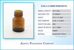 45 ML G-22 Amber Round Bottle