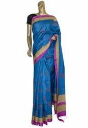 Blue Color Tussar Sari