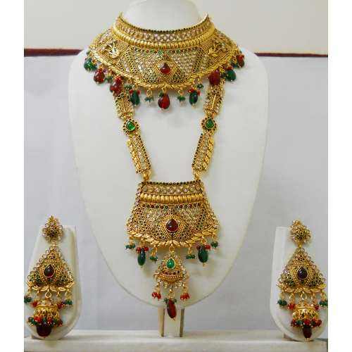traditional set sakhigold necklace product gold bridal style latest