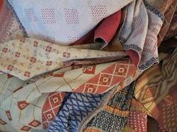 Hand Stitched Reversible Vintage Kantha Quilt Indian Throw