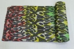 New Cotton Kantha Paisley Tie Dye  Bed Cover