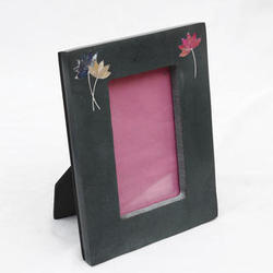 Black Marble Photo Frame