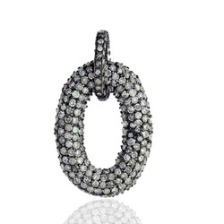 Pave Diamond Zero Shape Pendant