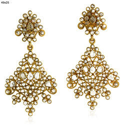 Diamond Ethnic Drop Earrings