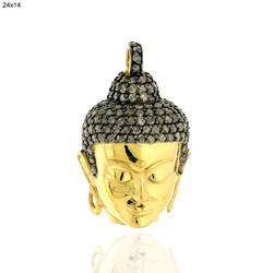 Pave Diamond Buddha Pendant Jewelry